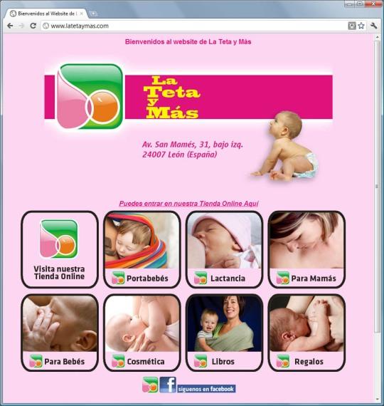 Página web de la teta y más